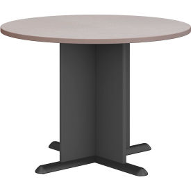 """Bush Business Furniture Series A &amp C 42"""" Round Conference Table - Pewter"""