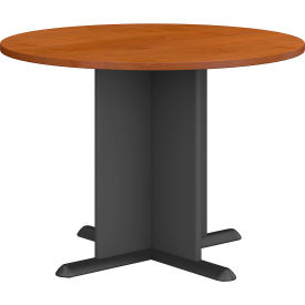 "Bush Business Furniture Series A &amp C 42"" Round Conference Table - Natural Cherry"