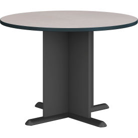"""Bush Business Furniture Series A &amp C 42"""" Round Conference Table - Slate"""
