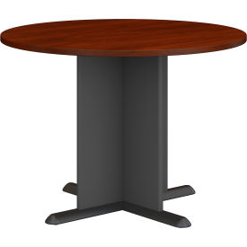 """Bush Business Furniture Series A &amp C 42"""" Round Conference Table - Hansen Cherry"""