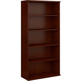 Bush Furniture Double Bookcase with 5 Shelves - Mocha Cherry - Series C