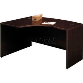 Bush Furniture Left Hand Wood Desk with Bow Front - Mocha Cherry - Series C