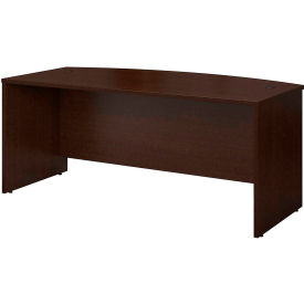 "Bush Furniture Wood Desk Shell with Bow Front - 72"" - Mocha Cherry - Series C"