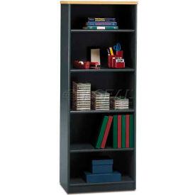 "Bush Furniture Bookcase with 5 Shelves - 25-3/8""W x 13-1/2""D x 66-1/4""H - Beech - Series A"