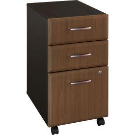 Bush Furniture Three Drawer File (Assembled) - Walnut - Series A