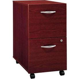 Bush Furniture Two Drawer File Cabinet (Unassembled) - Mahogany - Series C