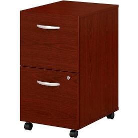 Bush Furniture Two Drawer File Cabinet (Assembled) - Mahogany - Series C- Pkg Qty 1