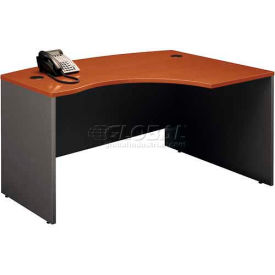 Bush Furniture Right Hand Wood Desk with Bow Front - Auburn Maple - Series C
