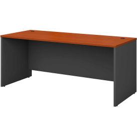"Bush Furniture Wood Desk Shell - 72"" - Auburn Maple - Series C"