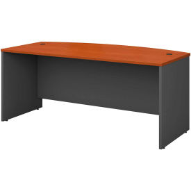 """Bush Furniture Wood Desk Shell with Bow Front - 72"""" - Auburn Maple - Series C"""
