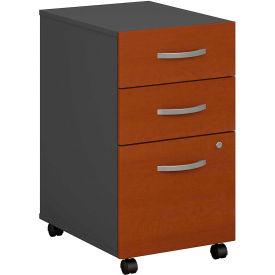 Bush Furniture Three Drawer File Cabinet (Assembled) - Auburn Maple - Series C