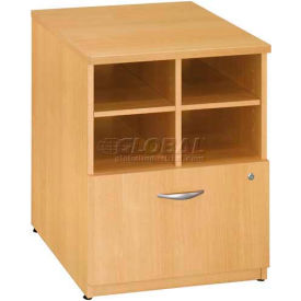 "Bush Furniture Storage Filing Cabinet - 24"" - Light Oak - Series C"