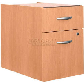 Bush Furniture 3/4 File Cabinet (Unassembled) - Light Oak - Series C
