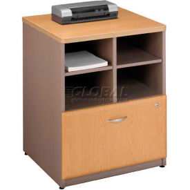 "Bush Furniture Storage Filing Cabinet - 24"" - Light Oak - Series A"
