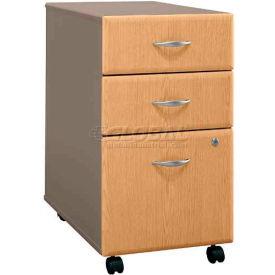 Bush Furniture Three Drawer File (Unassembled) - Light Oak - Series A