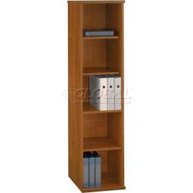 Bush Furniture Single Bookcase with 5 Shelves - Warm Oak - Series C