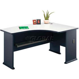 "Bush Furniture 60"" Right Hand Desk with Bow Front - Gray - Series A"