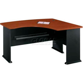 "Bush Furniture Right Hand Wood Desk with Bow Front - 60"" - Hansen Cherry - Series A"