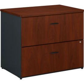 Bush Furniture 2 Drawer Lateral File Cabinet (Assembled) - Hansen Cherry - Series A
