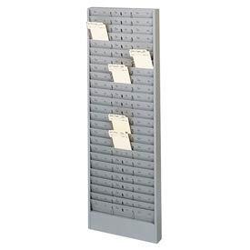 Jumbo Time Card Rack with Adjustable Pockets - Grey- Pkg Qty 1
