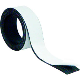 """MasterVision Magnetic Adhesive Tape Roll 1""""x 4 ft Black"""