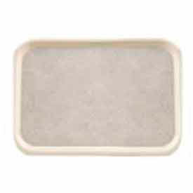 "Cambro 1520VC380 - Versa Camtray, Rectangular, 15"" x 20"", Non-Skid, Dishwasher Safe, Ivory w/Sahara - Pkg Qty 12"