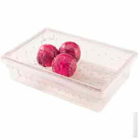 """Cambro 18268CLRCW135 - Colander, For Food Storage Boxes, Fits 18"""" x 26""""x9 And 15"""", Clear - Pkg Qty 4"""