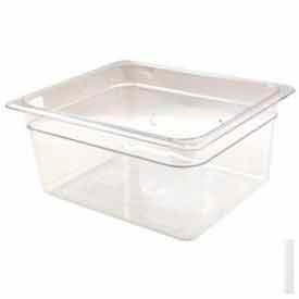 "Cambro 26CW135 - Camwear Food Pan, 1/2 Size, 6"" Deep, Polycarbonate, Clear, NSF - Pkg Qty 6"