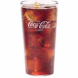 """Cambro 32CC152 - Coca-Cola Tumbler, 32 Oz., Top Dia. 3-15/16"""", Bottom. Dia. 2-7/8"""", 7-1/4""""H, Clear - Pkg Qty 24"""