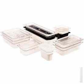 "Cambro 46CW135 - Camwear Food Pan, Plastic, 1/4 Size, 6"" Deep, Polycarbonate, Clear, NSF - Pkg Qty 6"