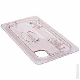 Cambro 60CWLN135 - Fliplid Food Pan Cover, 1/6 Size, Notched, Hinged, Polycarbonate, Clear, NSF - Pkg Qty 6