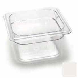 "Cambro 64CW148 - Camwear Food Pan, Plastic, 1/6 Size, 4"" Deep, Polycarbonate, White, NSF - Pkg Qty 6"