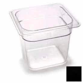 "Cambro 66CW110 - Camwear Food Pan, Plastic, 1/6 Size, 6"" Deep, Polycarbonate, Black, NSF - Pkg Qty 6"