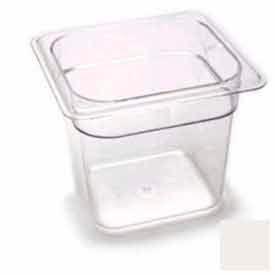 "Cambro 66CW148 - Camwear Food Pan, Plastic, 1/6 Size, 6"" Deep, Polycarbonate, White, NSF - Pkg Qty 6"
