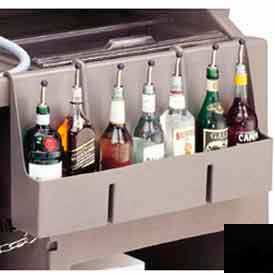 Cambro 730SR110 - Speed Rail, 7-bottle, 29x6-1/2x14-5/8, w/built-in partitions, Black
