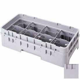 """Cambro 8HE2151 - Half Drop Extender, Half Size, 8-Comp, Adds 1-5/8"""" To Rack Height, Soft Gray - Pkg Qty 12"""