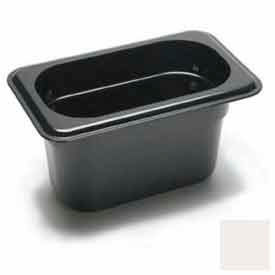 "Cambro 94CW148 - Food Pan, Plastic, 1/9 Size, 4"" Deep, White - Pkg Qty 6"