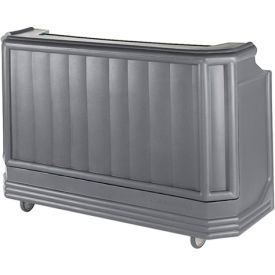 Cambro BAR730CP191 - Large Size Partially Equipped for Soda Service, Granite Gray