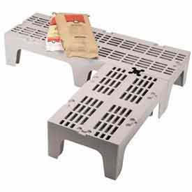 """Dunnage Rack, Slotted Top, 21""""W x 48""""D Speckled Gray"""