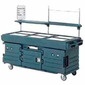 Cambro KVC856519 - CamKiosk Cart 6 Pan Wells, 85-1/8x33-1/2x70-1/2, Kentucky Green