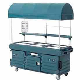 Cambro KVC856C186 - CamKiosk Cart 6 Pan Wells and Canopy, 85-1/8x33-1/2x94, Navy Blue