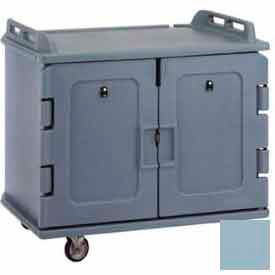 Cambro MDC1418S20401 - Meal Delivery Cart Low Profile, 2 Doors, 48-1/2 x 32-1/2 x 44, Slate Blue