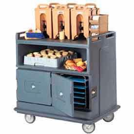 Cambro MDC24191 - Beverage Service Cart Recessed Top 44-1/2 x 30 x 44, Granite Gray