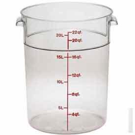 "Cambro RFSCW22135 - Storage Container, Round, 22 Qt., 13-1/2"" Dia. x 15""H, Clear, Polycarbonate - Pkg Qty 6"