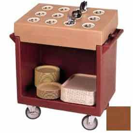 Cambro TDCR12131 - Dish Cart & 12-Comp Cutlery Rack, 38-1/8x22-3/4x41-1/4, Dark Brown