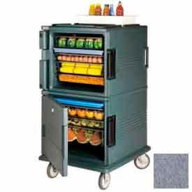 "Cambro UPC1600191 - Ultra CamCart Food Pan Carrier, Cap. 120 Qt., 6"" Casters, Granite Gray"