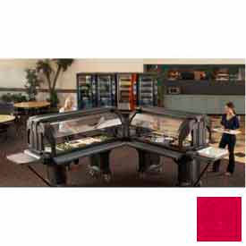 "Cambro VBRTHD5158 - Versa Food Bars Work Table, Cold Food, 60"" x 36"", 6"" Swivel Casters, Hot Red"