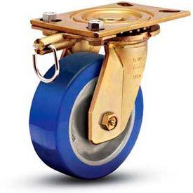 """Shepherd® 5"""" Dia. Steel Swivel Lock & Caster - COS50158YZ-STL51(GG)SL - 1750 Lb. Cap."""