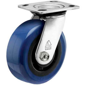 """Bassick® Prism Stainless Steel Swivel Caster - Eagle Urethane - 5"""" Dia.- Pkg Qty 1"""
