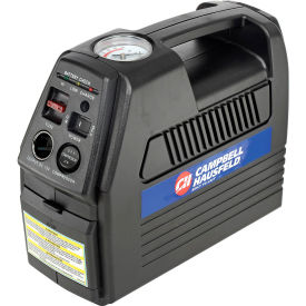 """Campbell Hausfeld CC2300, Cordless Rechargeable Inflator, 12VDC or 120VAC, 230 PSI, 24"""" Hose- Pkg Qty 1"""